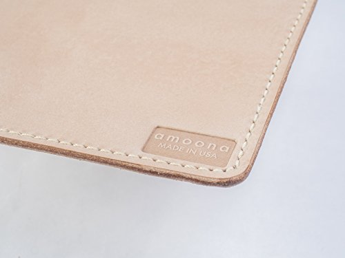 Matty (9x8 in.) Natural Vegetable Tan Rustic Full Grain Leather Desk Mouse Pad Writing Mat. Handcrafted in USA. Family Owned & Operated. by amoona