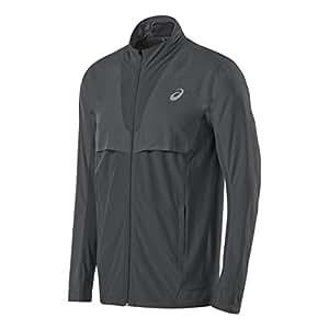 Mens ASICS Athlete Jacket, Dark Grey, L
