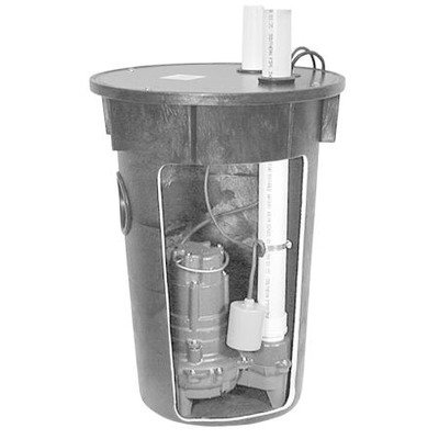 (Zoeller M264 Sewage Pump and Basin System)