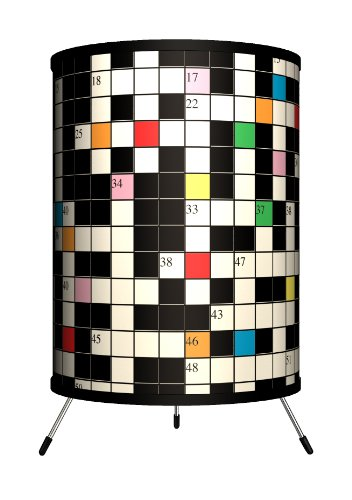 Lamp-In-A-Box TRI-VAR-CROSS Various - Crossword Puzzle Tripod Lamp