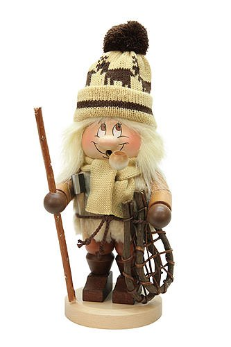 German Incense Smoker Gnome Woodworker - 30,5cm / 12inch - Christian Ulbricht by Authentic German Erzgebirge Handcraft