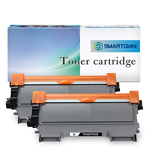 S.Smartomni Compatible Toner Cartridge Replacement for Brother TN450 TN420 Work with Brother HL-2240d HL-2270dw HL-2280dw MFC-7360n MFC-7860dw Series Printer, New 2-Packs