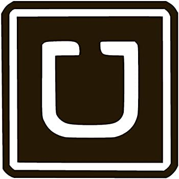 image relating to Uber Printable Decal named : Weighty UBER Car or truck DECALS ~ 8 x 8 inches White
