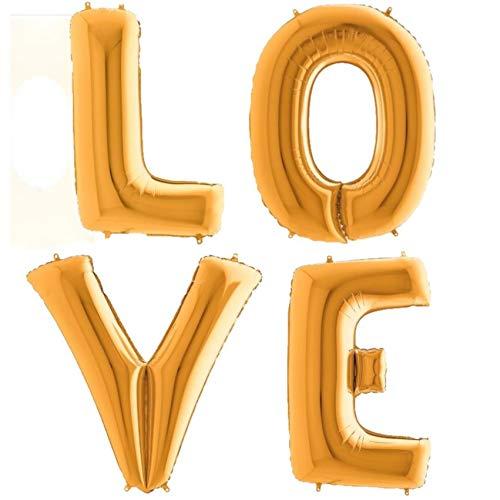 Balloonshop 40 love Supershape Foil Letter Balloons In Gold Grabo AX-AY-ABHI-36758
