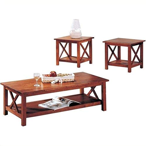 Coaster Briarcliff Casual Medium Brown Three-Piece Occasional Table Set