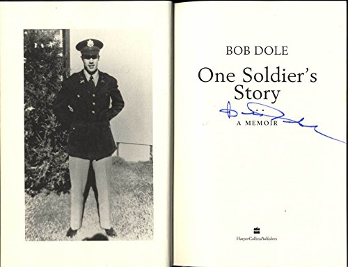 Bob Dole Autographed Signed One Soldiers Story Book Racc Ts Aftal At