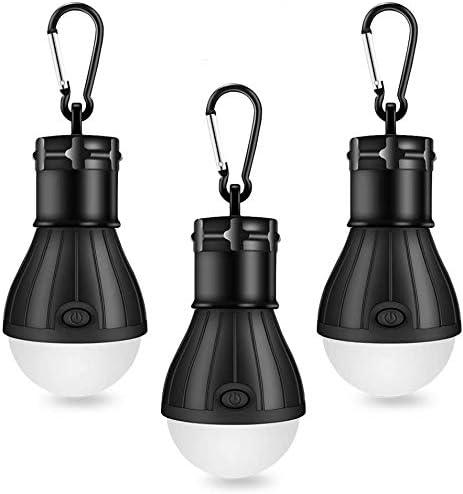 Linkax Lámpara Camping LED,Linterna para Camping,[3 Unidades] Portátil Bombilla Tienda de Camping,Luz Camping para Emergencias, Senderismo,Pesca y ...
