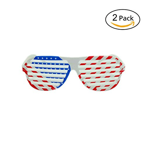 American Flag Shutter Shades Sunglasses Party Props Glasses, Pack of - Sunglasses Knockaround Cheap