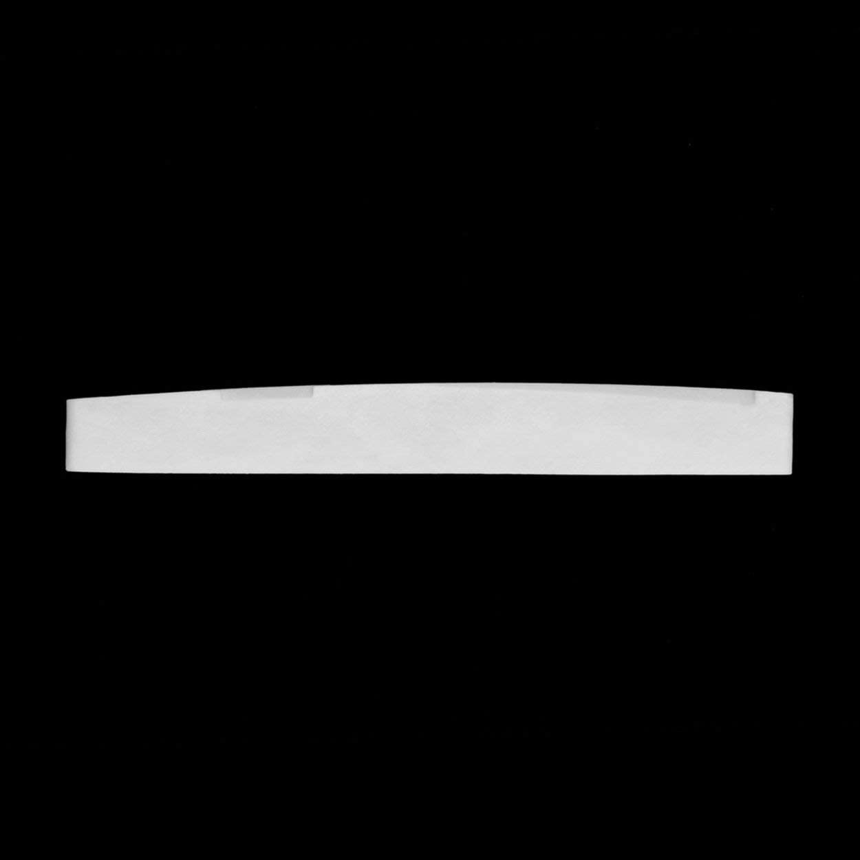Spare parts,Ivory White 2.83 x 0.35 x 0.12inch Classical Buffalo Bone Guitar Bridge Saddle Replacement Parts For 6 String Acoustic Guitar