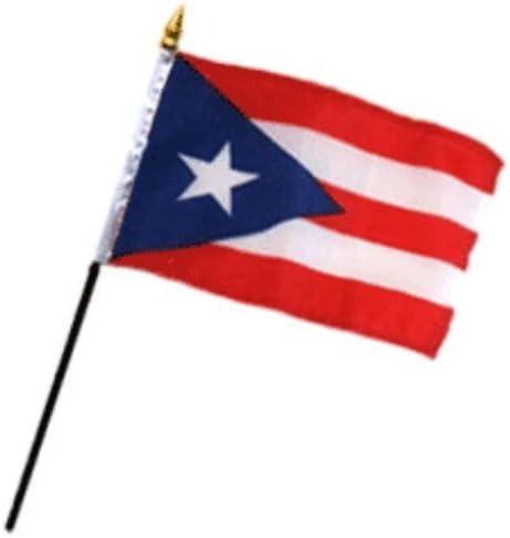 Mini Bandera Puerto Rico lote de 5