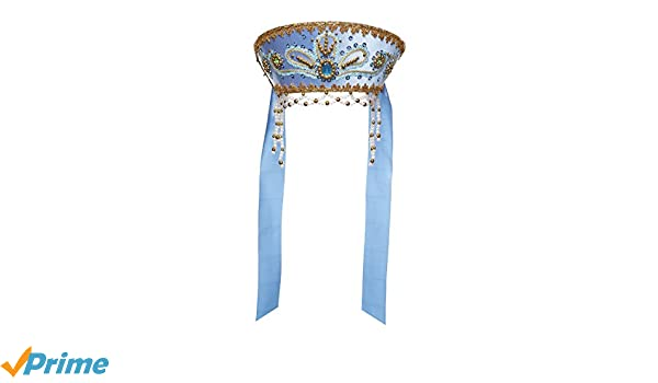 Disfraz tradicional ruso de folk Kokoshnik Victoria azul claro ...