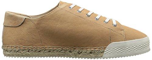 Negen West-dames Orlov Lederen Fashion Sneaker Natural