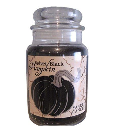 YANKEE CANDLE Velvet Black Pumpkin Scented Large Jar -