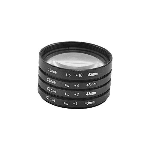 Filtro de objetivo de 43mm, macro +1,+2,+4,+10y funda para cámaras Canon, Nikon y Sony