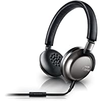 Philips F1/27 Fidelio Premium Lightweight Travel Headphones with Mic, Black