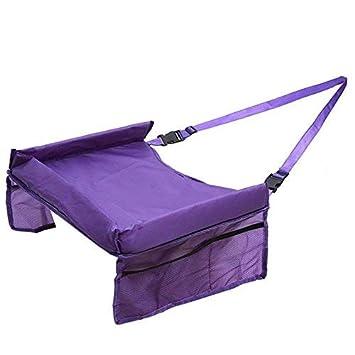 Color : Purple Tres Colores Mesa de Juego en el Coche Mesa de Viaje Mesa de ni/ños//Comedor Bandeja de Rodilla Asiento de ni/ño en el Coche