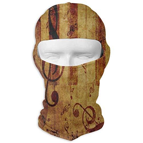 YIXKC Balaclava Vintage Rose Music Note Stylish Face Mask for Men Snowboarding