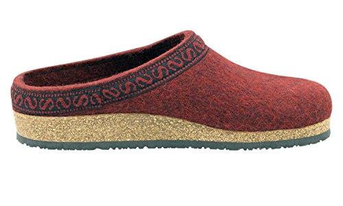 Firebrick with Stegmann Women's Felt Cork Sole Clog Wool I0HHPaxqwO