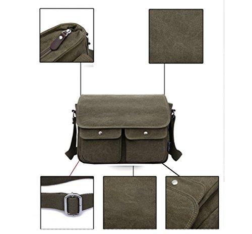 Canvas Business purpose Shoulder Travel Backpack Multi Beige Leisure Messenger Bag Multifunctional Laidaye wqtpxSCS