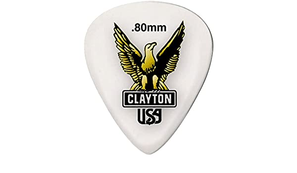 12 pk Clayton Acetal Polymer .80mm Standard Picks