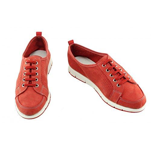 Pieds Nubuck Souple Flexible Chaussures Antidérapantes Rouge Ultra Sport Confort Tennis N Sensibles rouge Super Aerobics Frame Femme 4qO1w8