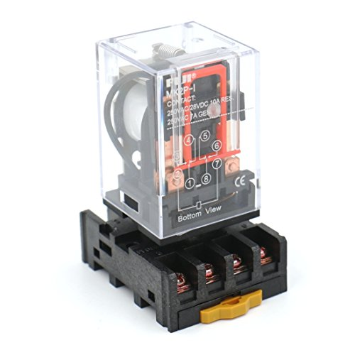 Baomain Power Relay MK2P-I AC 110V Coil DPDT 8 Pin with Plug-in Terminal Socket by Baomain