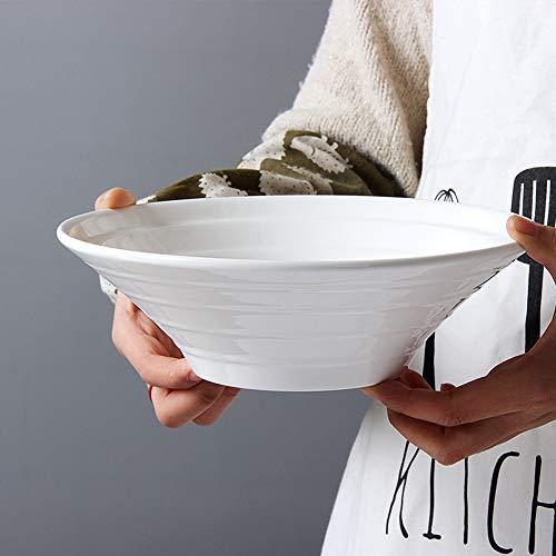 Porcelain 4 Piece Serving Bowl Set Classic White Serving Bowl