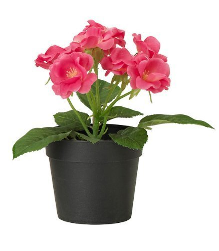 ikea fejka artificial potted plant small dark pink rose plant 7 tall 3 1 - Tall Potted Plants
