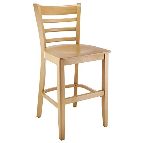 Beechwood Mountain Bsd-5BW24-N Solid Beech Wood Counter Stool in Natural with Wood Seat for Kitchen & Dining, (Beech Stool)