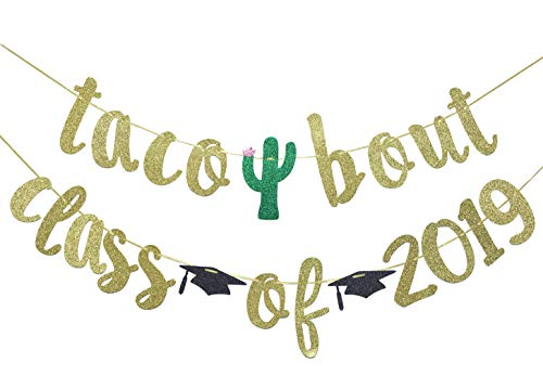 Taco Bout Class of 2019 Banner for Fiesta Graduation Sign Taco Graduation Theme Taco Grad Party Backdrop Supplies -