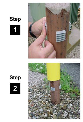 Innoplast 7'' x 52'' (7.1'' ID) Bollard Cover Yellow with Red Reflective by Innoplast (Image #4)