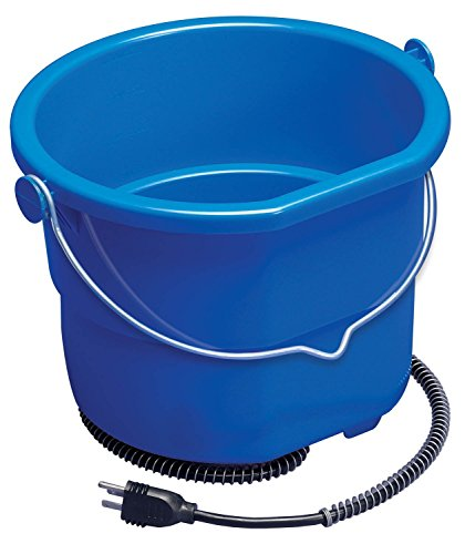 Heated Flat Back Bucket Will Keep Water Ice Free During Below Zero Conditions for Dogs & Horse (Bucket Heated Flat)