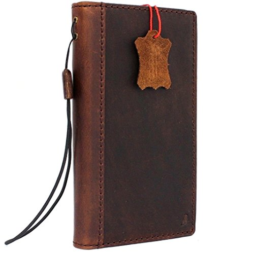 Genuine Leather Case for Samsung Galaxy S9 Plus Book Wallet Luxury Closure Cover S Handmade Retro Holder Cards s 9 - Leather Custom Case