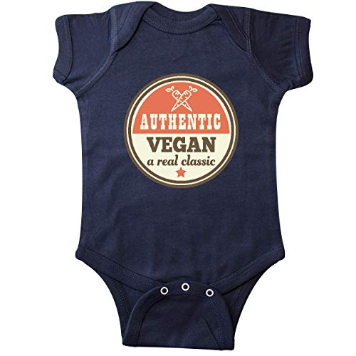 inktastic - Vegan Eating Vegetarian Gift Infant Creeper 12 Months Navy Blue