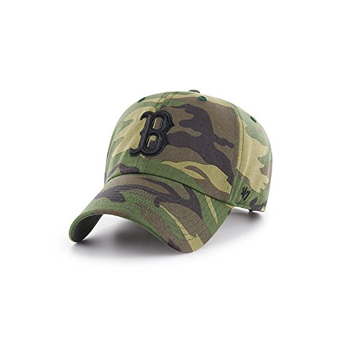 79f00cc9 Boston Red Sox 47 Brand Unwashed Camo Clean Up Slouch Fit Hat