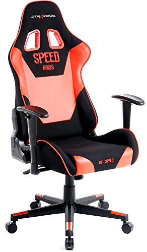 41fRTYxy8pL - GTracing High Back Gaming Chair Fabric And PU Racing Chair Backrest And Height Adjustable E-sports Chair Ergonomic Computer Office Chair Furniture