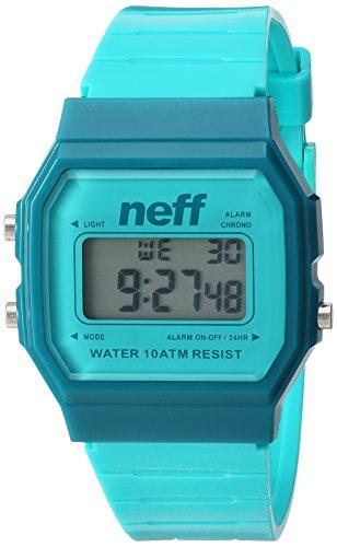 Neff Unisex NF0226TURQ Flava XL Surf Digital Display Chinese Automatic Green Watch (Watch Neff)
