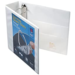 Avery Extra-Wide Ezd Reference View Binder, 3 Inch Rings, White, 1 Binder (01321)