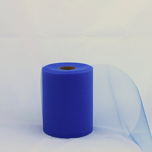 Royal Blue Tulle Roll - 6 Inch X 100 Yard - Tulle for Decoration and Tutu Dresses (Royal Tulle Blue)