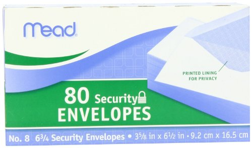 Mead 75212 Security Envelopes 80