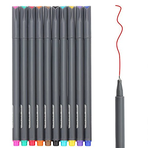 Huhuhero Fineliner Color Pen Set, 0.38 mm