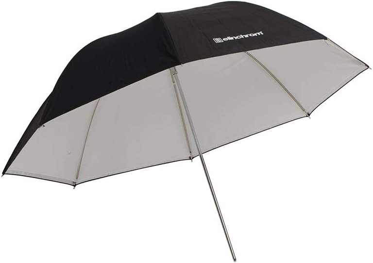 EL26359 White Reflective// Translucent 105cm// 41in Elinchrom Shallow 2-in-1 Umbrella
