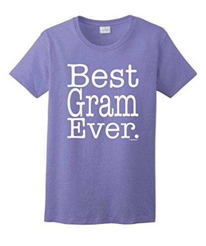 Price comparison product image Best Gram Ever Ladies T-Shirt Large Violet