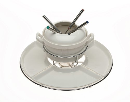 Godinger 10-Piece Fondue and Lazy Susan Set