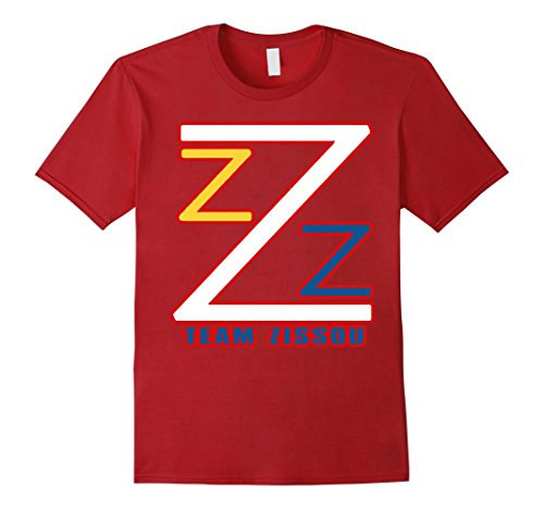 Men's T-e-a-m Z-i-s-s-o-u Logo T-Shirts Small Cranberry