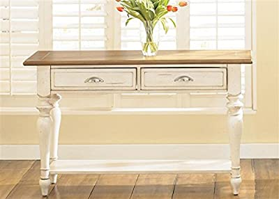 "Liberty Furniture 303-OT1030 Ocean Isle Sofa Table, 50"" x 18"" x 30"", Bisque with Natural Pine"