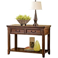 Ashley Furniture Signature Design - Woodboro Sofa Table - Entertainment Console - Rectangular - Dark Brown
