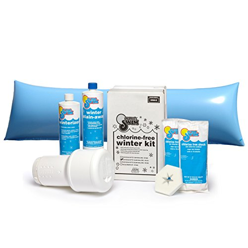 In The Swim Bundle ? 2 Items: Deluxe Pool Winterizing and Closing Chemical Kit for Pools up to 15,000 Gallons and 4 x 8 ft. Air Pillow
