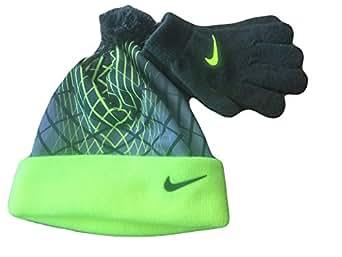 Amazon.com: NIKE Youth Blue Winter Hat & Gloves Beanie Set