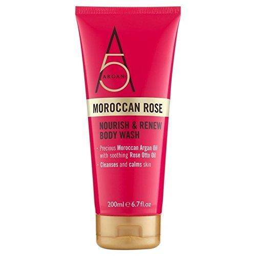Argan+ Moroccan Rose Body Wash 300ml (Pack of 6) - アルガン+モロッコは、ボディウォッシュ300ミリリットルをバラ x6 [並行輸入品] B0722KKWLV